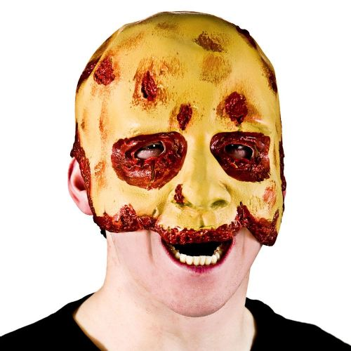 Adult Unisex Half Face Zombie Mask (Adult) Masquerade for Fancy Dress